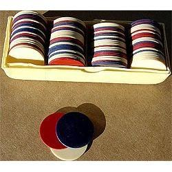 old vintage CELLULOID POKER CHIPS in box #2376866