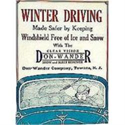 VINTAGE NEW JERSEY WINTER DRIVING SIGN  #2376946