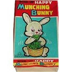 VINTAGE WIND-UP MUNCHING BUNNY RABBIT TOY  #2376963