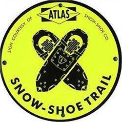 VINTAGE METAL ATLAS SNOW SHOE SIGN #2376974