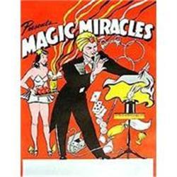VINTAGE MAGIC MIRACLE MAGICIAN POSTER #2376980