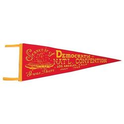 VINTAGE 1960 DEMOCRATIC CONVENTION PENNANT  #2376982