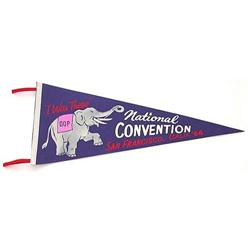 VINTAGE REPUBLICAN CONVENTION PENNANT #2376983