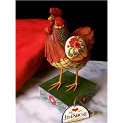 JIM SHORE ENESCO ROOSTER FARM STATUE * CHICKEN #2377045