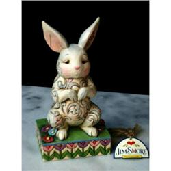 JIM SHORE ENESCO BUNNY RABBIT STATUE #2377046