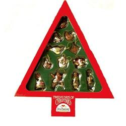 JIM SHORE 12 DAY XMAS ORNAMENTS IN BOX * ENESCO#2377049