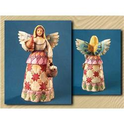 JIM SHORE ANGEL WITH HEN AND EGGS STATUE * #2377054