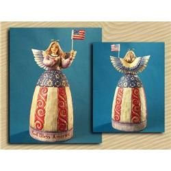 JIM SHORE PATRIOTIC ANGEL STATUE * ENESCO #2377055