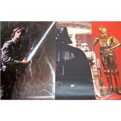 3 Vintage STAR WARS Posters * luke skywalker #2377056