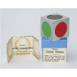 VINTAGE ADAMS COLOR VISION TRICK MAGIC CUBE TOY#2377058