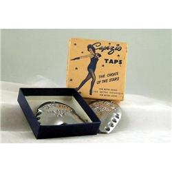 2 VINTAGE CAPEZIO SHOE TAPS original STORE BOX #2377076