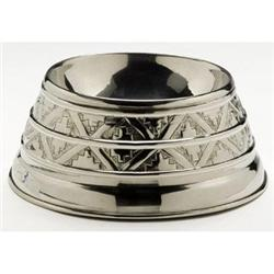 NICKEL PLATED DOG BOWL NEW #2377078