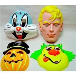 4 VINTAGE COLLEGEVILLE HALLOWEEN MASKS 1960S #2377080