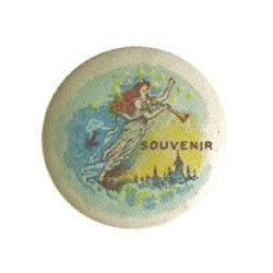 ANTIQUE 1900 SOUVENIR ANGEL PINBACK #2377088