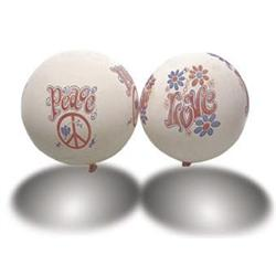 VINTAGE PEACE AND LOVE BALLOONS 1960S #2377129