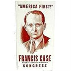 VINTAGE FRANCIS CASE AMERICA FIRST POLITICAL #2377149