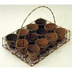 12 Pot Wire Carrier * India #2377158