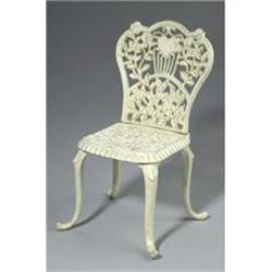 CAST IRON HEART DOLL HOUSE METAL CHAIR #2377162