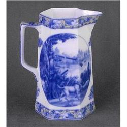 PORCELAIN HUNTING WATER PITCHER NEW #2377186
