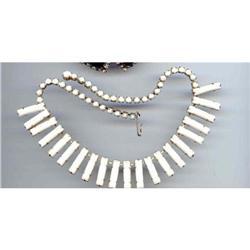 SALE Wild Milk Glass Necklace #2377399