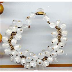 SALE Vintage Glass multi beaded Bracelet #2377405