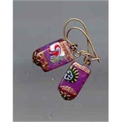SALE 14kt Gold and Murano Glass Earrings #2377406