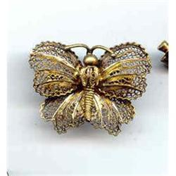 Filigree Butterfly with gold wash  vintage #2377412