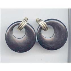 SALE Black Bakelite Earrings. #2377417