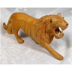 Artisan Kadam Wood Sculpture~Raging Lion #2377435