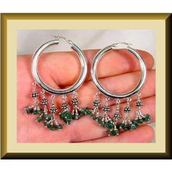 Green Onyx MASTERPIECE sterling Earrings #2377437