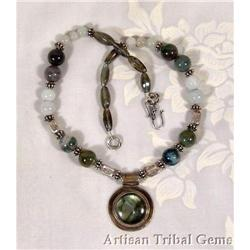 Agate STERLING Silver Necklace #2377441