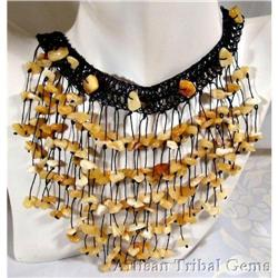 Sexy Artisan Crocheted BALTIC AMBER necklace #2377442