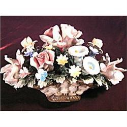 Vintage Capodimonte Mollica Italy Large Floral #2377472