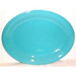 Vintage Fiesta Turquoise Oval Platter #2377483