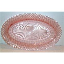 Pink Miss America Oblong Depression Glass #2377499