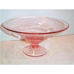 Pink Footed Elegant Depression Glass Compote #2377500