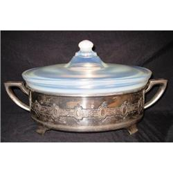 """Fry Ovenware 10"""" Covered Casserole with Metal #2377521"""