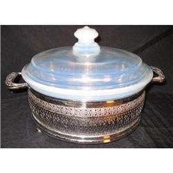 Fry Ovenware Covered Round Casserole and Metal #2377528