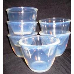 Six Fry Ovenware Custard Cups #2377530