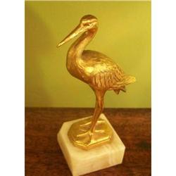 Gilt Metal Statue of an Egret #2377536