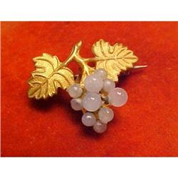 Victorian Watch Pin with Grapes and Leaves #2377537