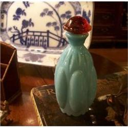 French Blue Glass Scent Bottle  #2377541