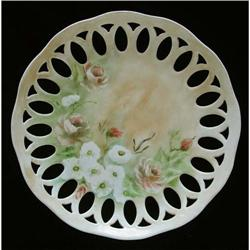 Reticulated Porcelain Cabinet Plate #2377554
