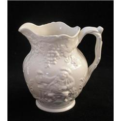 Spode White Jug with Figures in Relief  #2377557