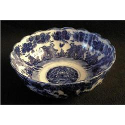 Blue and White Flow Blue Bowl - China #2377561