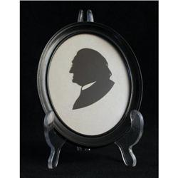 Profile Silhouette of Gentleman in Oval Frame #2377564