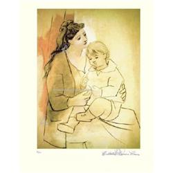 PICASSO MOTHER WITH CHILD HAND SIGNED L/E #2377698