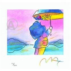 PETER MAX HAND SIGNED UMBRELLA MAN LITHOGRAPH #2377705