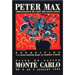 PETER MAX * RARE FLOWERS MONTE CARLO EXIBITION #2377706