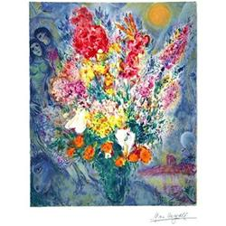 MARC CHAGALL BOUQUET SIGNED S/N LITHOGRAPH #2377710